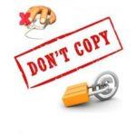 Защита текста и картинок от копирования